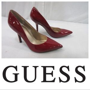 Guess Sexy Red Patent Leather Pumps! NEW!! 9.5